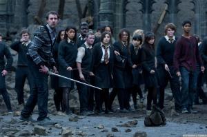 Hogwarts stands.