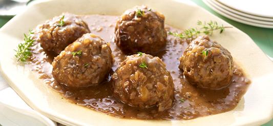 Les boulettes sauce liégeoise